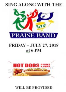 Sing along with the Praise Band @ St. John's Parish Hall