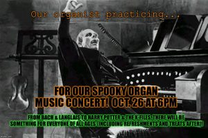 Spooky Organ Music Concert @ St. John's Episcopal Church