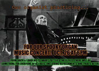 Spooky Organ Music Concert with Christoffer Woodard.